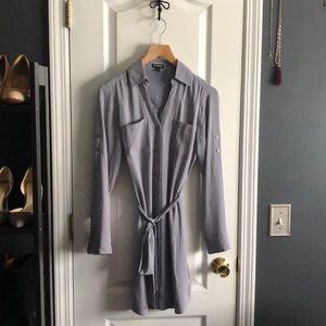 Express Shirt Dress. Grey. Size XS.